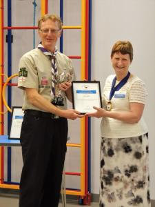 Derek Salter recognised for services to Scouting