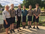 Pinkneys Green Scout Group meets PM at Memorial Garden Opening