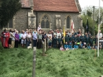 1st Ufton Nervet Scout Group celebrated St Georges Day with their community